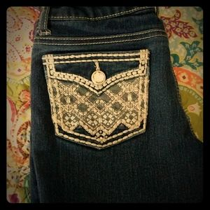 Girls Faded Glory Deco pocket Jeans